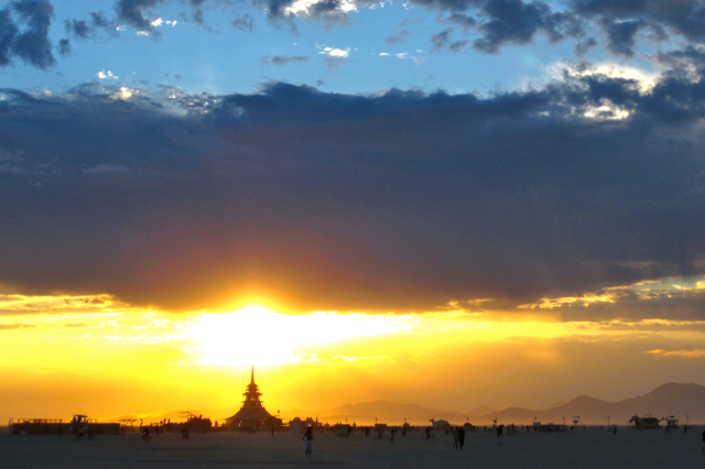 burning man temple sunrise 2012